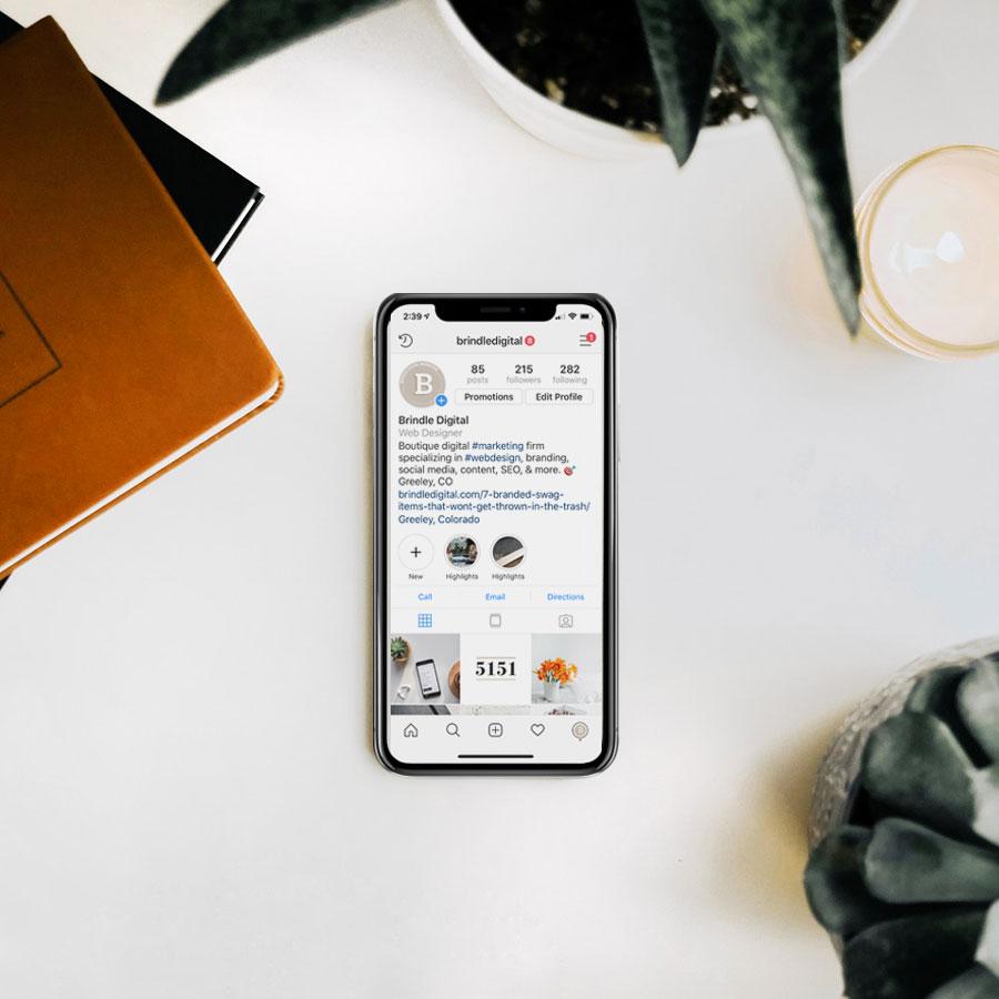 Social Media post ideas on mobile