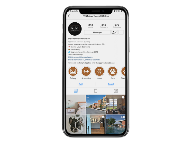 social media for apartments