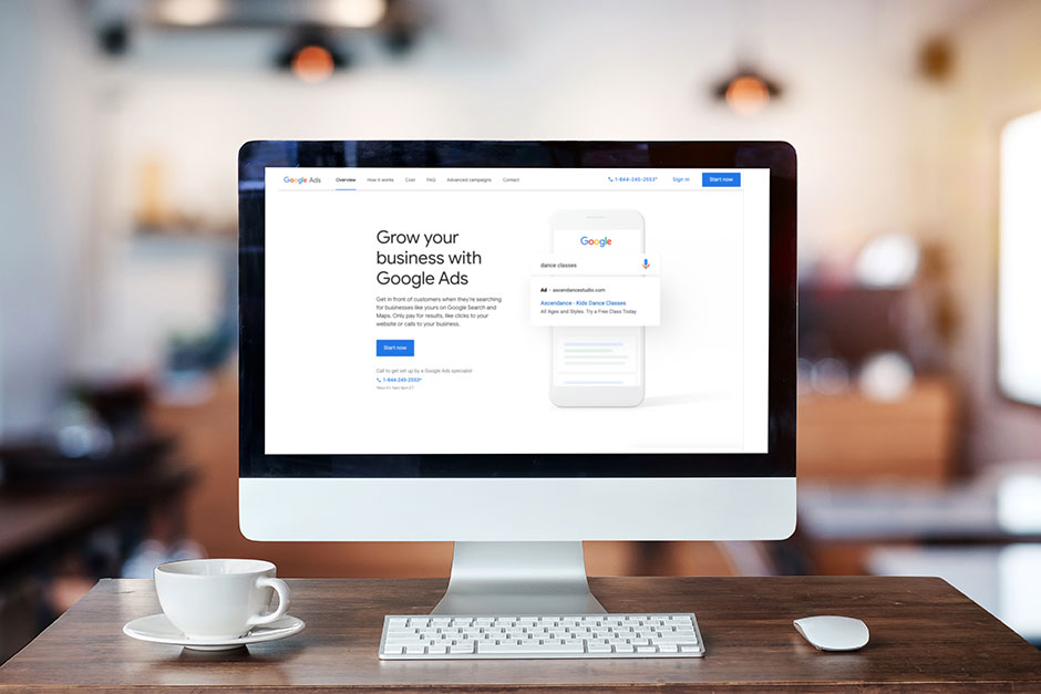 Grow Your business with Google Ads Webpage