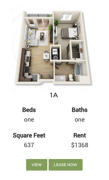 Multifamily 3D Floor plan
