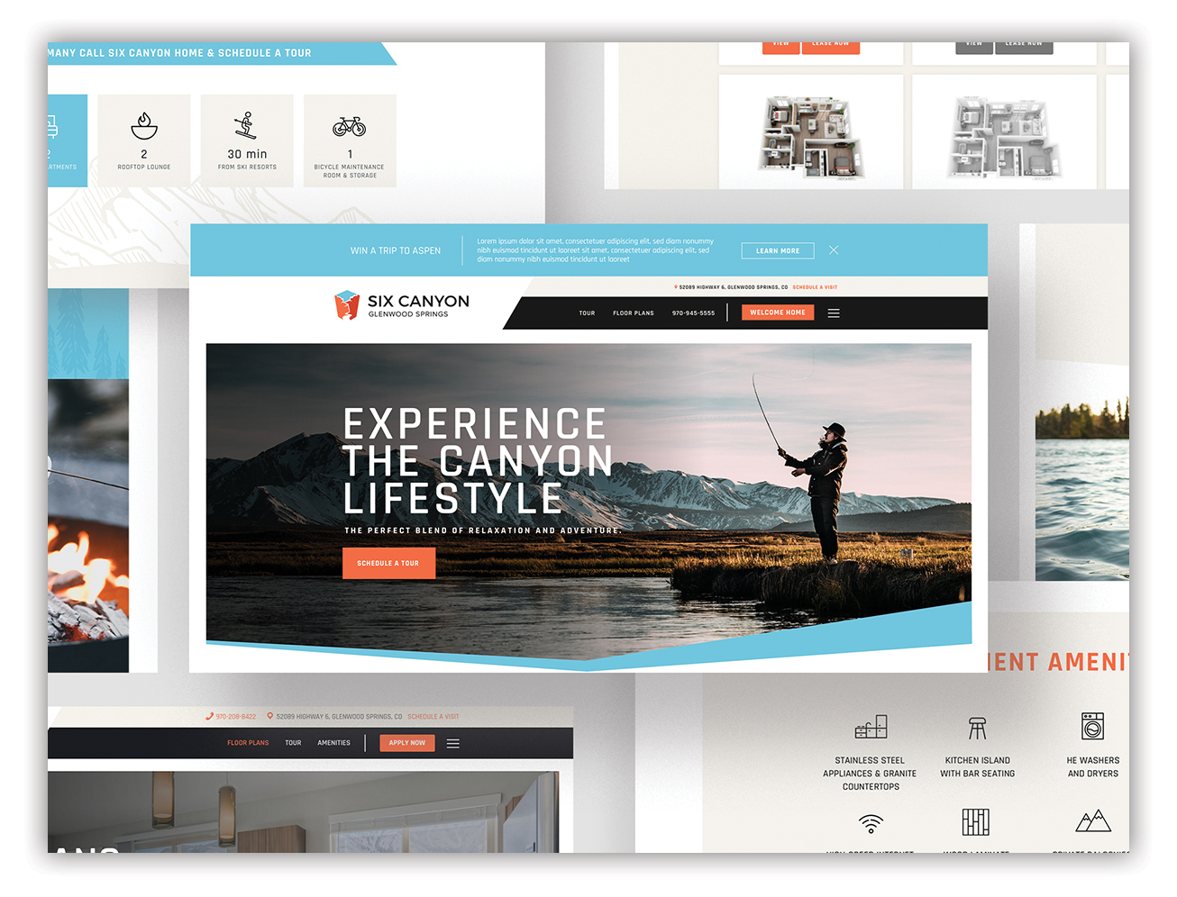 apartment website mockup - six canyon