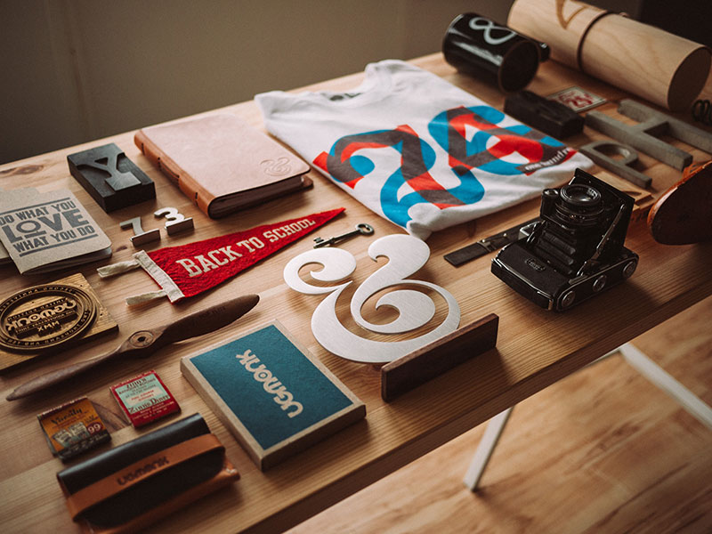 branding and logo on desk