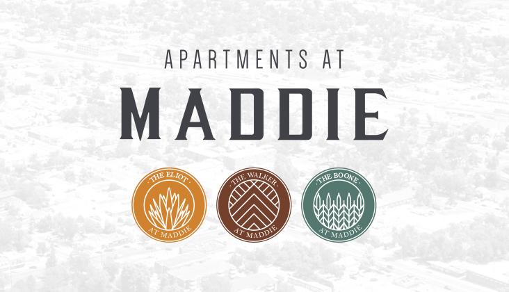 maddie apartment logo design