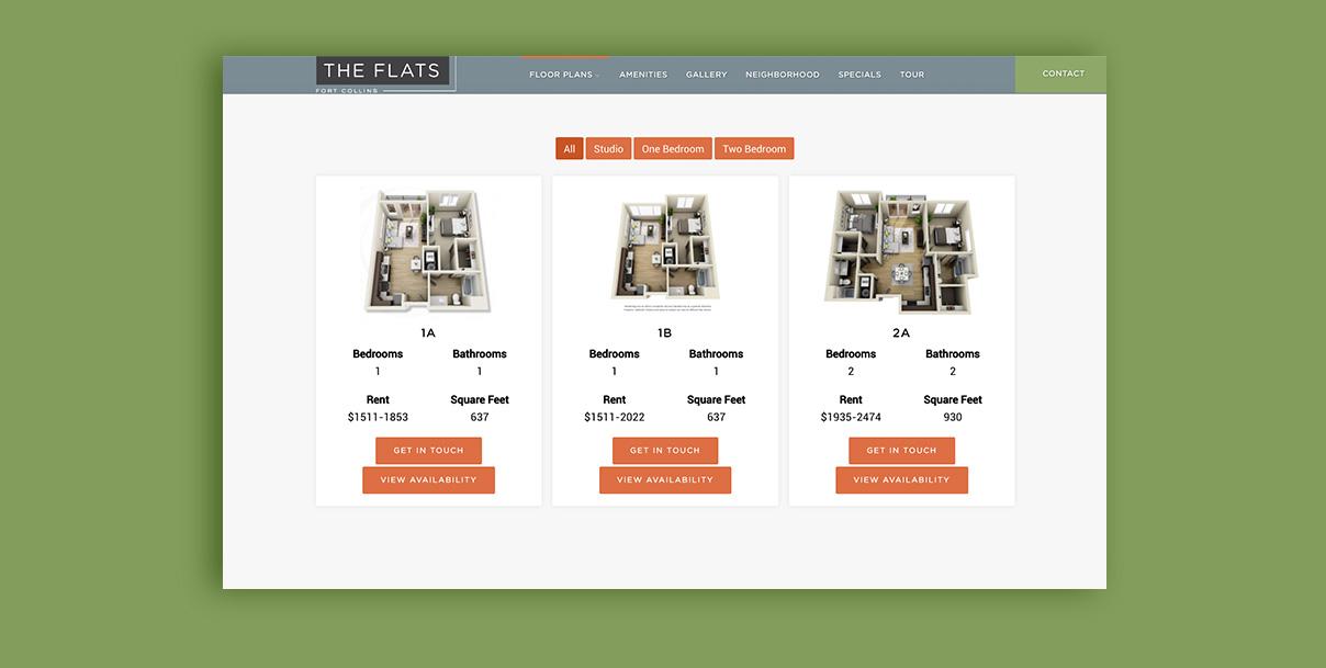 floor plans on website