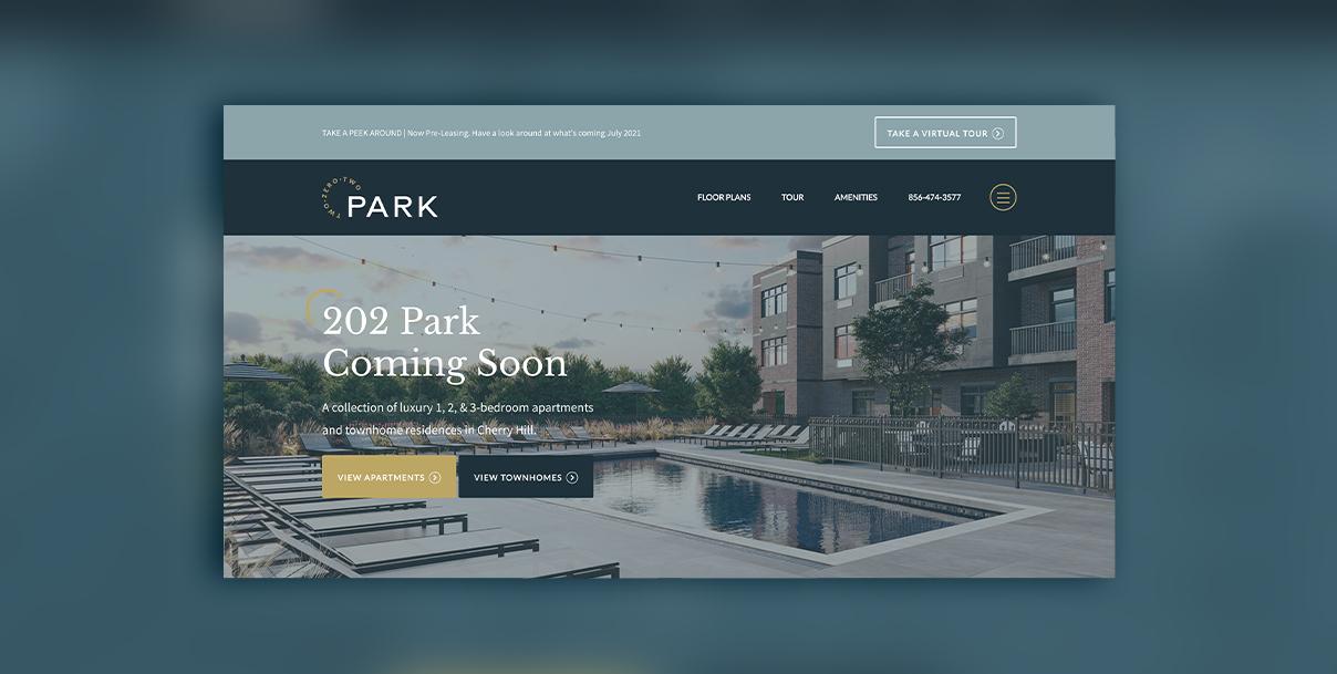 202 park multifamily website design