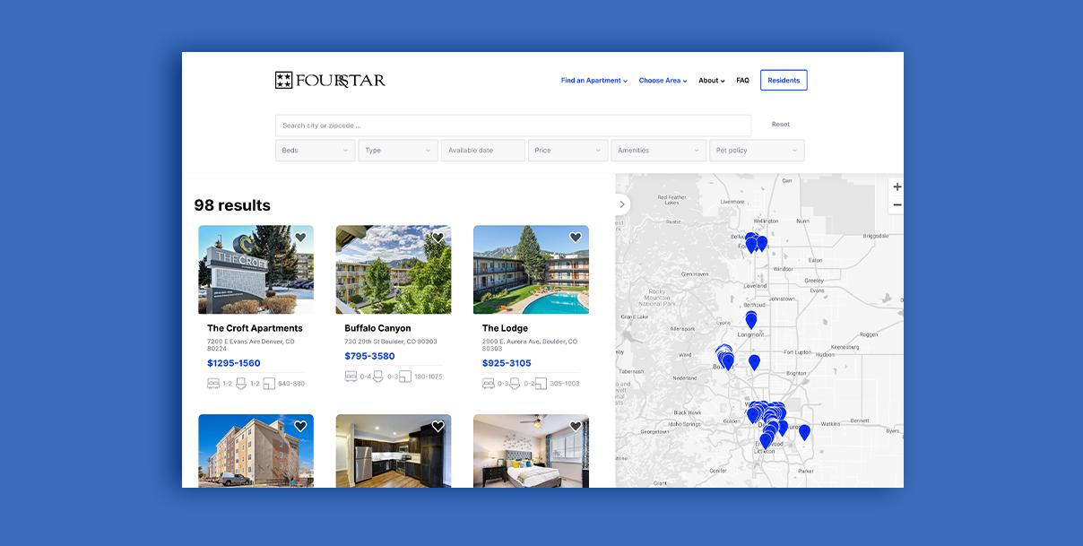 Property management web design yardi integration